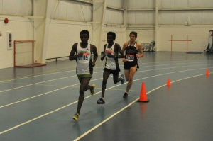 Hayden Hollowell (2790) in the early laps of the men's 3000m