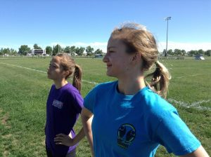 Zone 8 ASG Track Team Members Ainsley Wolstenholme (left) and Erin Kozyra are looking forward to next month's Airdrie Games