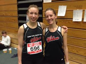 Jamie Wigmore (left) placed 3rd and Jackie Benning finished 6th in the 2015 Isaak's Eight in Edmonton