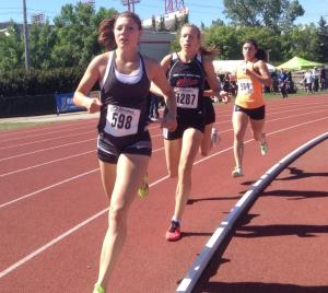 Jamie Wigmore ran a strong 800m at the 2015 Caltaf Classic Track meet