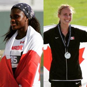 Mirelle Martens (Right) and Kendra Clarke (Left) were Canada's two medalists on Day 1 of the 2015 Pan Am Jr Track and Field Championships