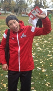 Jamie Wigmore won her second ACAC race of the season on Saturday, ACAC #3, the Jordan Fish XC hosted by SAIT