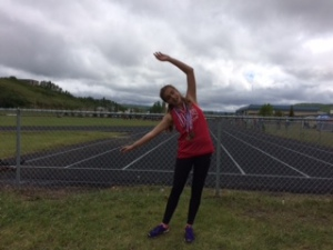 IV Macklin's Mairen Lawson set a record in the Junior Girls 800m and won two other events (400 and 1500)