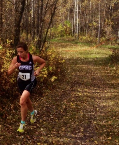 Andrea Snider place third in ACAC 3 in Vermilion, her first race as a Wolves runner